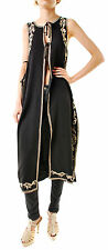 Free People Women's Authentic Embroidered Maxi Vest Black Size M RRP £153 BCF66
