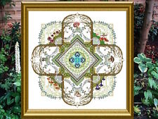 10% Off Chatelaine Counted X-stitch Chart - The Mushroom & Fern Mandala