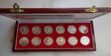 Shenyang Mint:A set of 12 Silver Chinese lunar medals from 1981-1992 China coin