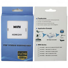 MINI HDMI TO AV COMPOSITE RCA CVBS VIDEO AUDIO CONVERTER ADAPTOR 1080P HDMI2AV