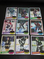 LOT OF 18 AUTOGRAPHED 1980 TOPPS HOCKEY CARDS- NO DOUBLES
