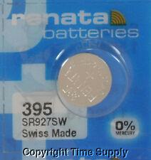 1 pc 395 Renata Watch Batteries SR927SW FREE SHIP 0% MERCURY