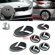 7pcs 3D K Speed Emblem Badge Set (Grille Trunk Steering Wheel 4 Rims) For Kia K5
