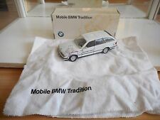 """Gama BMW 5er Touring """"Mobile BMW Tradition"""" in White on 1:43 in Box"""