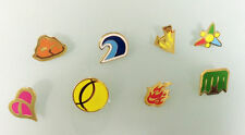 Complete set of 8 Gold Custom Fan-Kanto Gym Leader Badges Lapel Pins | Pokemon