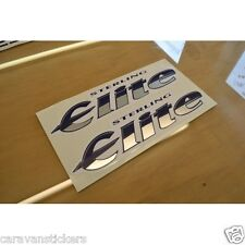 STERLING Elite - (STYLE 1)(CHROME) - Caravan Name Sticker Decal Graphic - PAIR