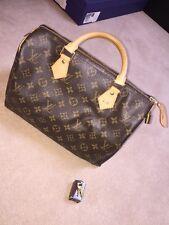 Louis Vuitton Speedy 30 Bolsa, viene con llaves poco, bolsa para el polvo, Caja, Cinta Y Etiquetas