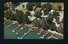 Clear Lake Iowa IA c1960s AERIAL VIEW, ARMSBURY's COTTAGES, 502 North Shore Dr.