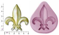 Fleur De Lys SAPONE CANDELA CRAYON Craft SUGARCRAFT FIMO CIOCCOLATO stampo Stampo