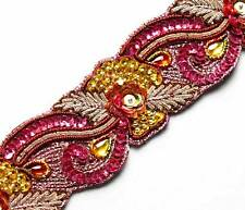 Gold & Pink Sequins. Purple Hand-Beaded Trim. Affordable Luxury