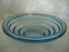 Beautiful & Unusual Lt.Cobalt Blue Glass Rimmed Serving Bowl - MORE AVAILABLE
