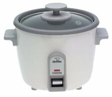 Zojirushi NHS-06 RICE COOKER, 3 Cup Uncooked Rice Warmer & STEAM COOKER, White
