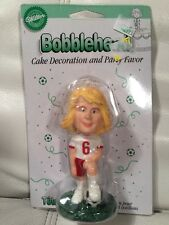 WILTON BOY BOBBLING CAKE TOPPER NEW BOBBLE HEAD SOCCER BIRTHDAY NEW!