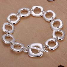 925 Sterling Solid Silver jewelry bracelet full Quartet FA228