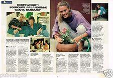 Coupure de presse Clipping 1987 (2 pages) Robin Wright Santa Barbara