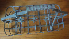 Vintage Hood 8 Milk Bottle Wire Carrier/Basket Country Kitchen Decor Crate