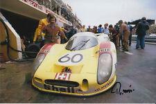 Reinhold joest porsche 908l main signé 6x4 PHOTO LE MANS 1972.
