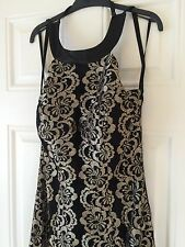 NEW Nazz Collection Dior Gold Maxi Dress, Size UK 10
