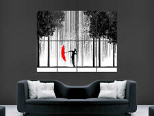 SINGING IN THE RAIN ABSTRACT ART WALL POSTER  PICTURE PRINT LARGE  HUGE