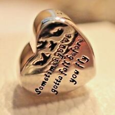 AUTHENTIC PANDORA CHARM HEART OF FREEDOM 791967 NEW W/TAGS