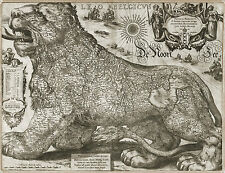 A3 Poster - Vintage Replica 1611 Leo Visscher The Holland Lion Map (Picture Art)