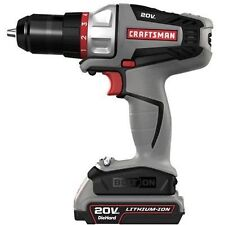 "NEW CRAFTSMAN Cordless Drill Driver Kit BOLT-ON 20-VOLT MAX CORDLESS 3/8"" 46133"