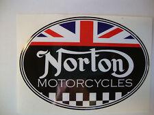"""2 NORTON 4""""  MOTORBIKE HELMET STICKERS IOM TT SUZUKI HONDA YAMAHA"""