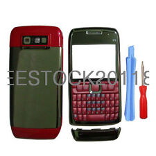 Red Nokia E71 Fascia Full Housing Case Cover Faceplate + Keypad & Tools New