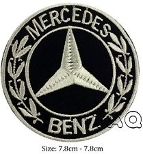 Mercedes benz logo racing biker car embroidered iron on patch badge motor # M05