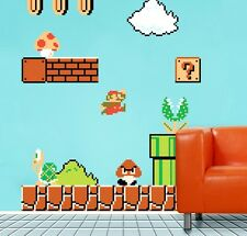 XXL!Wall Sticker:Super Mario Cartoon Wall Art Decals Sticker Kid Room Gift decor
