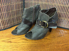 Unlisted Kenneth Cole ladies ankle boots size 7 M brown open toe Jack Rabbit S21