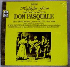 Mario Rossi Orch of Torino Highlights from Don Pasquale 1970s Everest Sealed LP