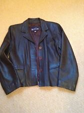 Ladies brown leather fitted jacket size L would fit 12