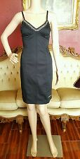 "35"" Long Ed Hardy Christian Audigier Black Jeweled Sleeveless Cotton dress Sz S"