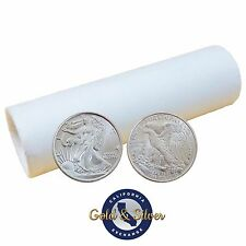 Roll of 50 New 1/10 oz Liberty Design .999 Fine Silver Rounds