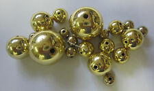 20 Acrylic Beads Shiny Gold Ball Mix Jewellery Making & Childrens Craft TAR031