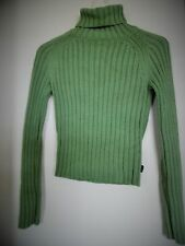 VTG ABERCROMBIE & FITCH DEEP GREEN CHUNKY RIBBED TURTLENECK SWEATER WOMENS Sz S