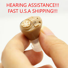 Digital Hearing Aid  Amplifier Adjustable Brush, Battery & Case USA FAST SHIP
