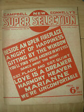 VINTAGE SHEET MUSIC - CAMPBELL CONNELLY'S NEW SUPER SELECTION FOR PIANO UKULELE