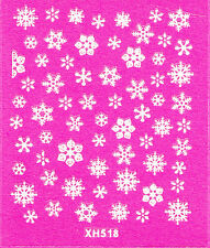 Nail Art 3D Decal Stickers Various Snowflakes Christmas Winter Holidays XH518
