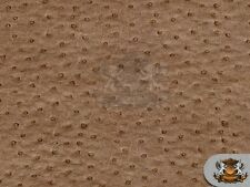 "Vinyl Ostrich EMU MOCHA Upholstery Leather Fabric Sold By The Yard - 54"" Wide"
