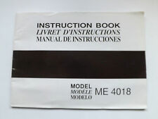 JANOME MODEL ME 4018 SEWING MACHINE INSTRUCTION BOOK = VERY GOOD CONDITION