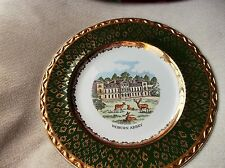 VINTAGE DISPLAY PLATE WEATHERBY HANLEY FALCON GILDED RICH GREEN RIM WOBURN ABBEY