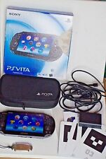 Sony PlayStation Black Vita Console PCH-1101 - WiFi/3G - VERY GOOD COND, W/ BOX