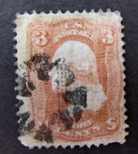 Scott #94 Grill Fancy Cancel 3 Cent 1867 Grills Issue US Stamps 4762