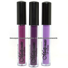 KLEANCOLOR 3 SHADES MADLY MATTE ROSE PURPLE LILAC LIP GLOSS LIQUID LG3SET13