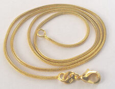 """18K GOLD PLATED NECKLACE 20"""" SNAKE CHAIN F18"""
