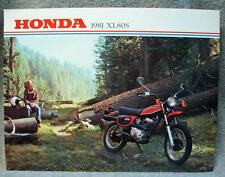 1981 Honda XL80S Motorcycle Original Dealer Sales Brochure