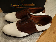 NIB Allen Edmonds Links Men's Leather Saddle Shoes Size 10.5 E Made in USA $300
