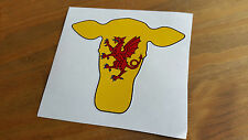 Cow head Somerset Flag Farmer farming Car Sticker Van Caravan Motorbike 9x10cm
